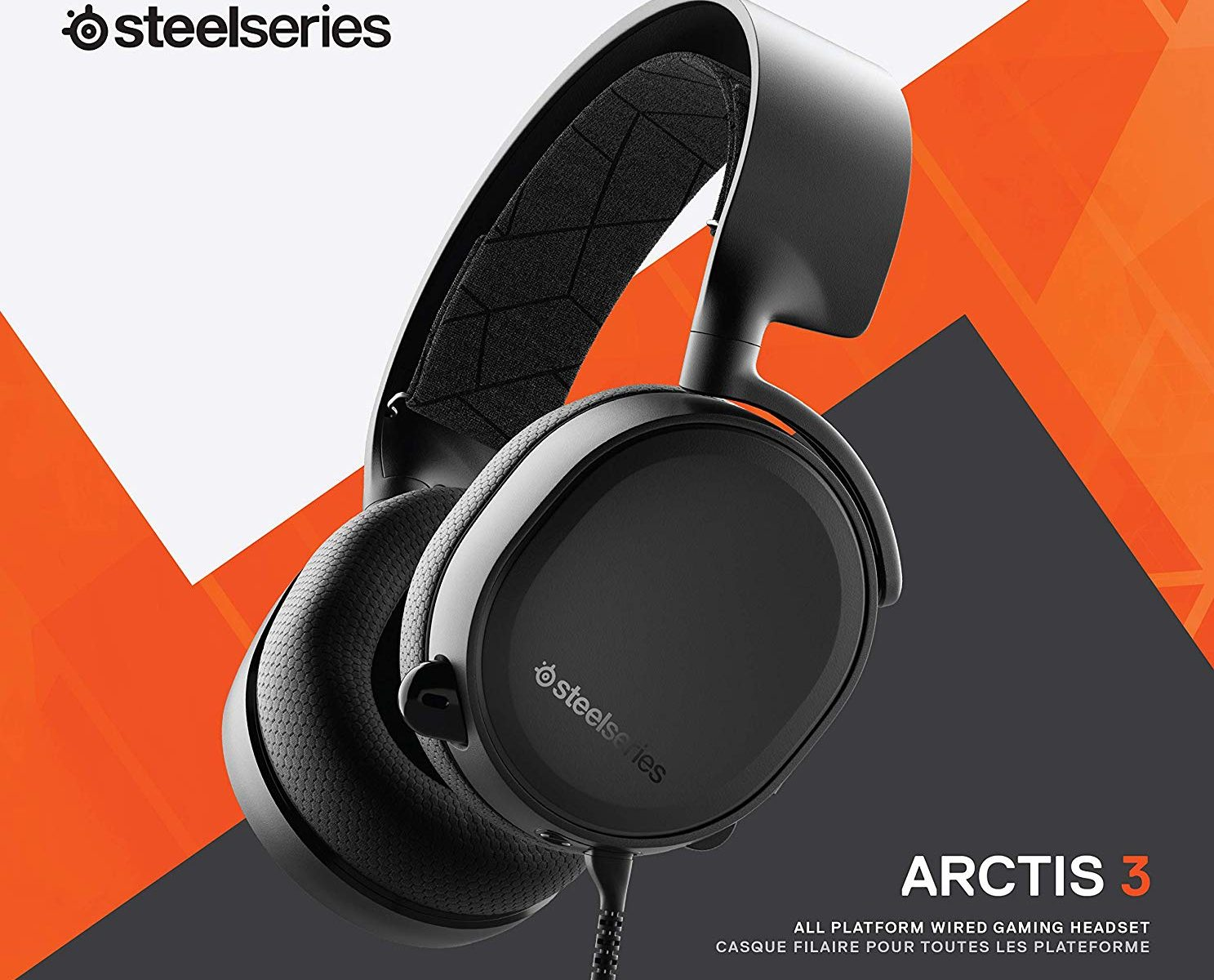 SteelSeries Arctis3 Auriculares multiplataforma. PC, Playstation 4, Xbox One, Nintendo Switch, RV, Android y iOS [Edición 2019]