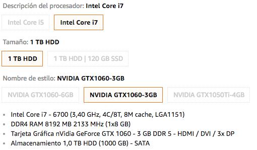 Medion S91 - Ordenador de sobremesa (Intel Core i7-6700, 8 GB de RAM, 1TB de HDD, nVidia GeForce GTX 1060 - 3 GB DDR5UNA MÄQUINA POTENTE PARA ESTE 2019